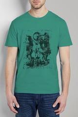 461493-26 футболка мужская, зеленая