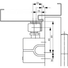 A104 Угловая монтажная пластина для скользящей тяги G195 ASSA ABLOY