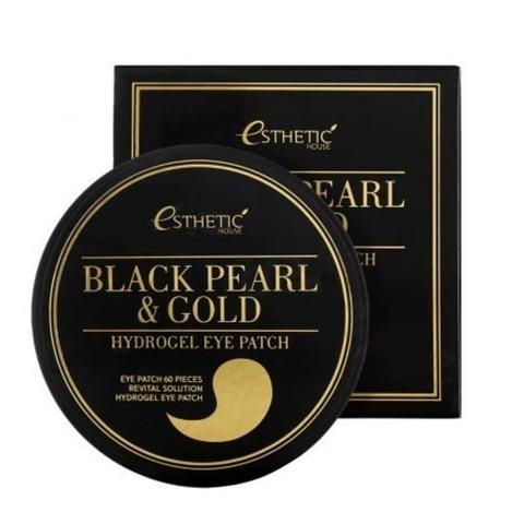 Гидрогелевые патчи для глаз Esthetic House Black Pearl And Gold Hygrogel Eyepatch