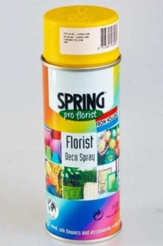 Краска-спрей SPRING (объем:400мл) Цвет: 080, ярко-желтый