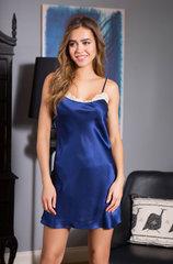 Шелковая сорочка синяя