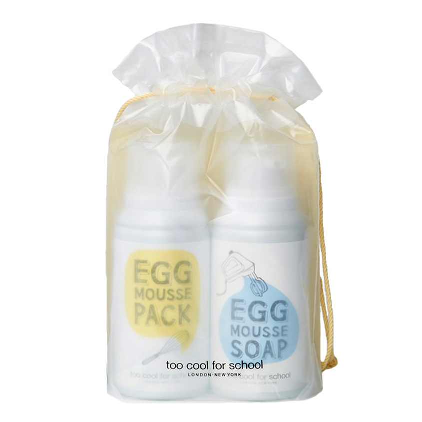 Too Cool For School Egg Mousse Pack & Soap Duo