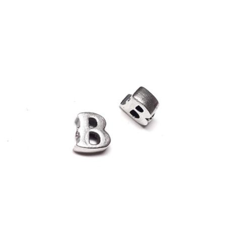 Alphabet letter B, sterling silver