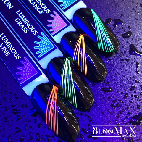 Гель краска Spider gel, Neon Luminous GREEN, 5 мл
