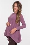 Туника для беременных 03807 темно-розовый