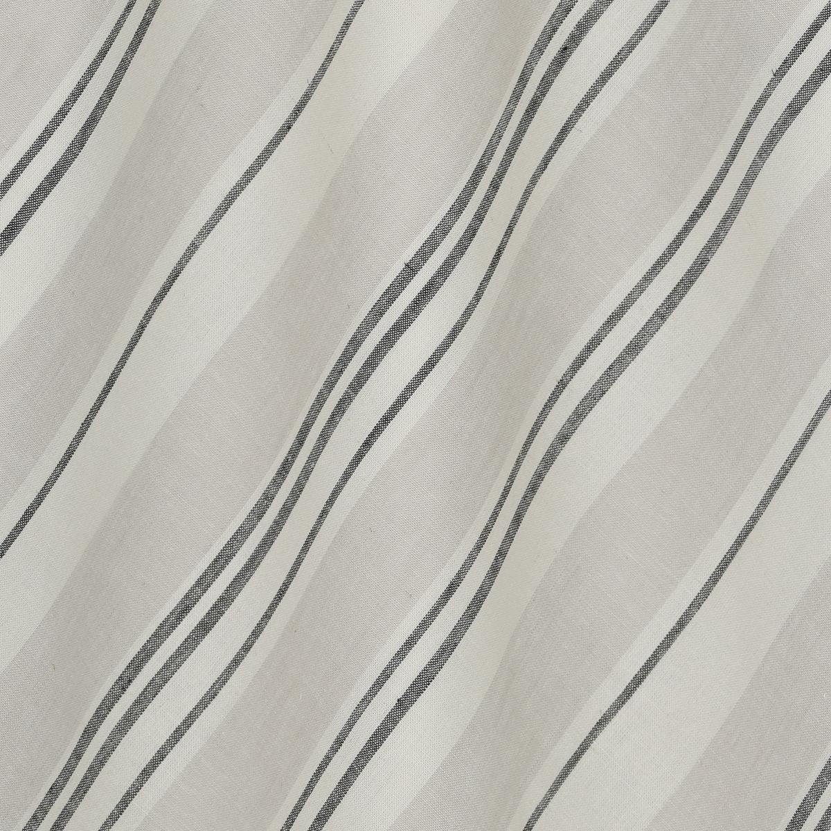 Вискозно-льняное полотно в полоску натуральных оттенков