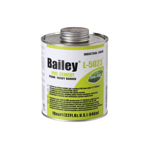 Клей для труб ПВХ Bailey L-5023 946 мл (большие диаметры) / 18458