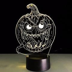 3D светильник с пультом Хеллоуин Тыква — 3D light remote control Halloween Pumpkin
