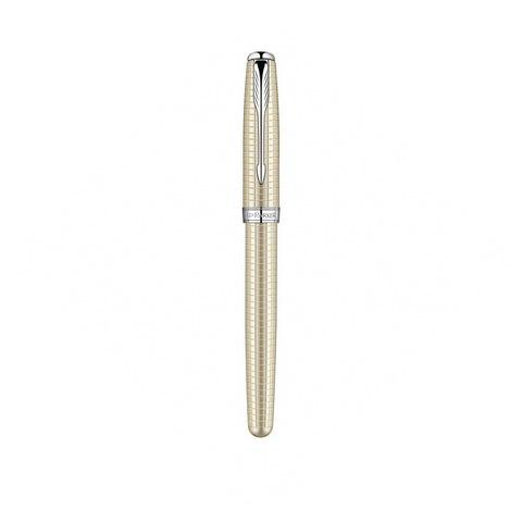 Перьевая ручка Parker Sonnet Cisele Decal F535 Silver CT123