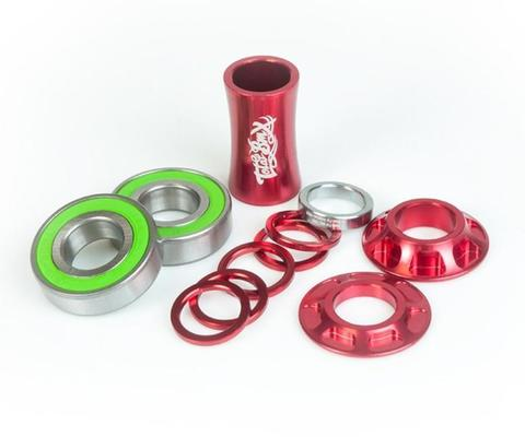 BMX Каретка TotalBMX Team Mid 22mm Красная