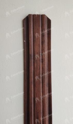 Евроштакетник металлический 85 мм Красный каштан П - образный 0.5 мм