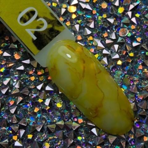 Акварельные капли для росписи №2 (желтые) BlooMax, 5 мл