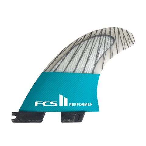 Плавники FCS II Performer PC Carbon Teal Medium Tri Retail Fins компл. из трех М