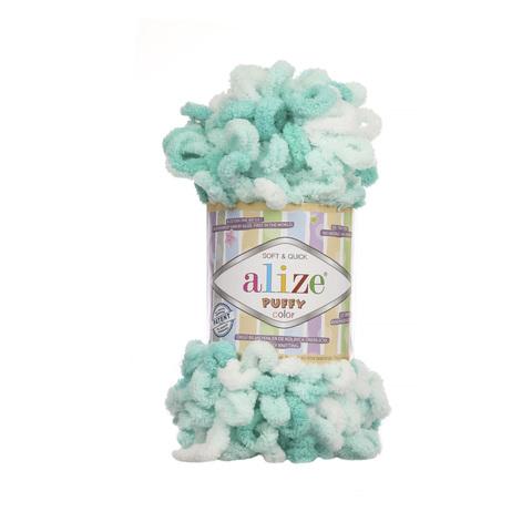 Купить Пряжа Alize Puffy Color Код цвета 5920 | Интернет-магазин пряжи «Пряха»