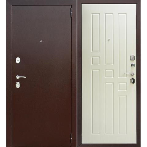 Входная дверь F 12  (Белая лиственница). ЦЕНА - С УСТАНОВКОЙ!