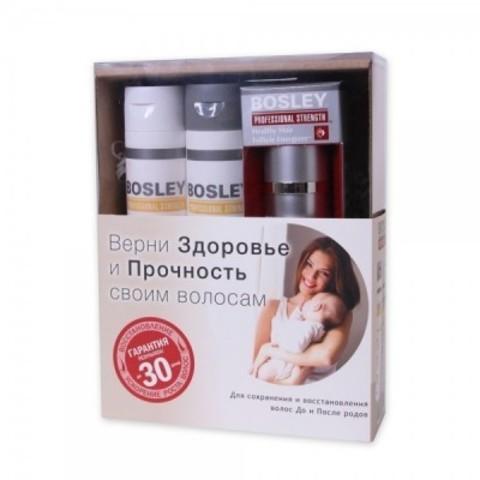 Bosley PRO: Набор для мам (шампунь  для тонких окрашенных волос 150мл+ кондиционер для тонких окрашенных волос 150мл+ биостимулятор фолликул волос 30мл (Shampoo 150ml+ Conditioner 150ml+  Follicle Energizer 30ml)