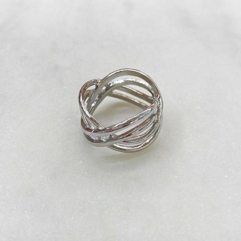 Кольцо Тройная Бесконечность (серебристый) vi
