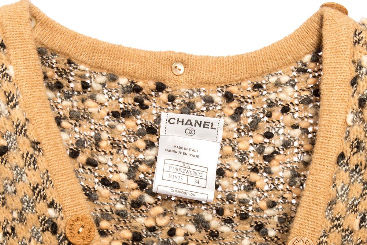 Стильный длинный кардиган от Chanel, 34 размер
