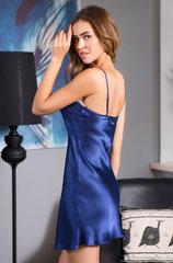 Шелковая сорочка темно-синяя