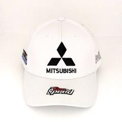 Кепка с вышитым логотипом Митсубиси (Кепка Mitsubishi) белая