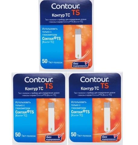 3 упаковки тест-полосок Контур ТС № 50 (промо)