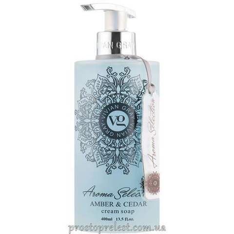 Vivian Gray Aroma Selection Amber & Cedar Cream Soap - Рідке крем-мило