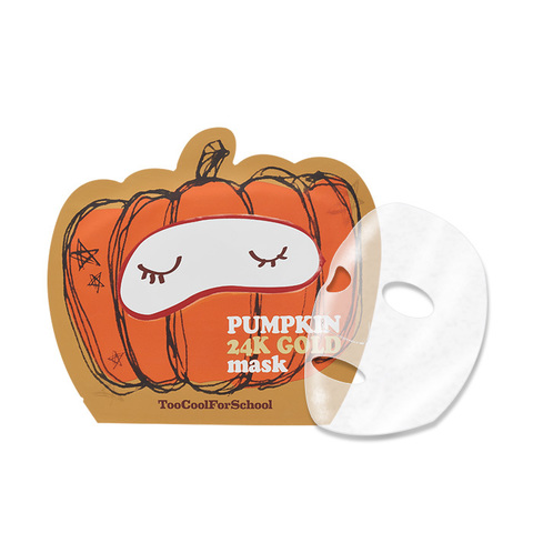 TOO COOL FOR SCHOOL Тканевая маска с тыквой регенерирующая Pumpkin 24K Gold Mask 1шт