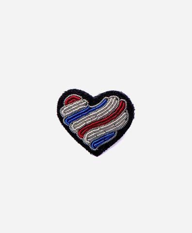 Брошь Tricolor heart