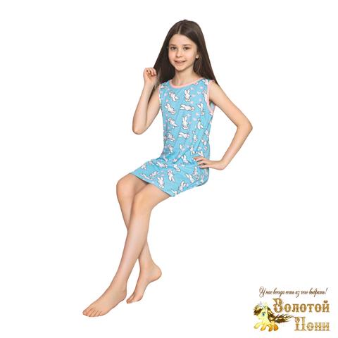 Сорочка хлопок девочке (6-14) 210318-М1140.3