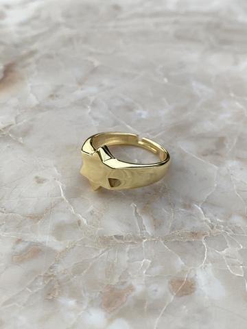 Кольцо Звезда из позолоченного серебра