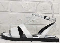 Летние сандалии босоножки кожаные Brocoli H1886-9165-S873 White.