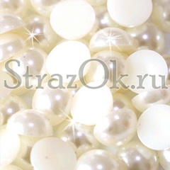 Купите полубусины Cream кремовый бежевый в интернет-магазине StrazOK.ru
