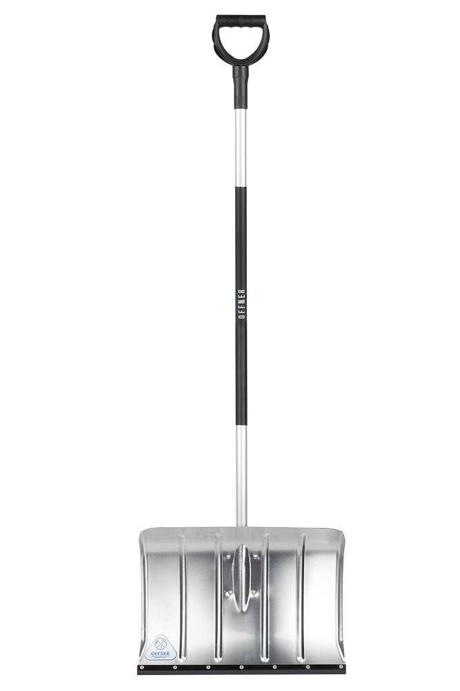 Лопата для уборки снега алюминиевая, бесшумная OFFNER