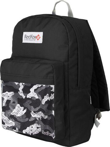 Картинка рюкзак городской Redfox Bookbag M2 10PR/черный/принт - 1