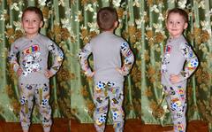 """Домашний костюм-пижама № 2 """"Мульт"""" Футбол Серый"""