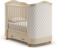 Кровать детская Тиффани декор ромб слоновая кость