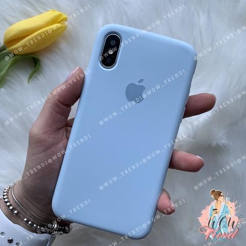 Чехол iPhone X/XS Silicone Case /sky blue/ светло-голубой 1:1