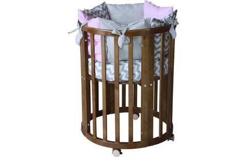 Кроватка детская Polini kids Simple 910, дуб