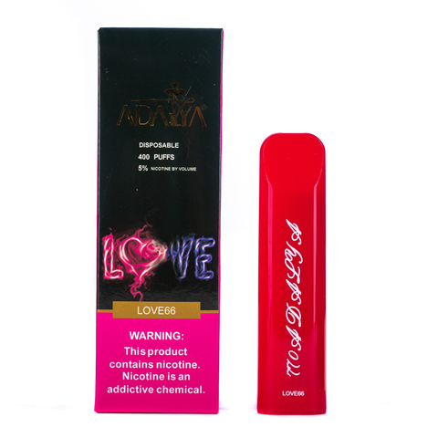Одноразовая электронная сигарета Adalya Love66 5% 400 затяжек