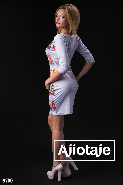 Стильное платье с накатом