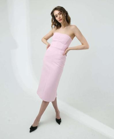 Корсетное платье в розовом цвете