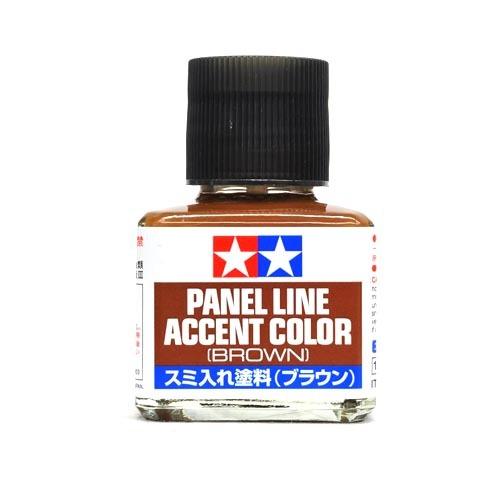 Tamiya Смывка Краска для финальной отделки модели Tamiya, Accent Color, Коричневая (Brown), смывка 40мл 87132.jpg