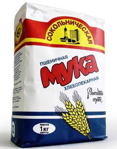 Мука пшеничная 1кг. Сокольническая