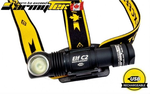 Налобный фонарь Armytek Elf C2  Micro-USB XP-L (теплый свет) + 18650 Li-Ion