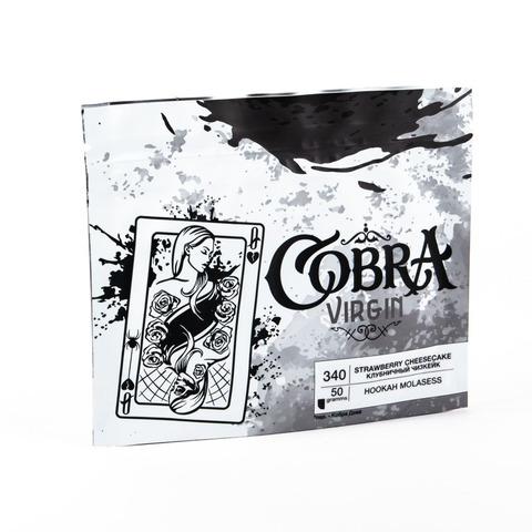 Кальянная смесь Cobra VIRGIN Клубничный Чизкейк (Strawberry Cheesecake) 50 г