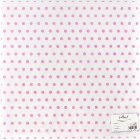Веллум с флоковым напылением Розовый горошек