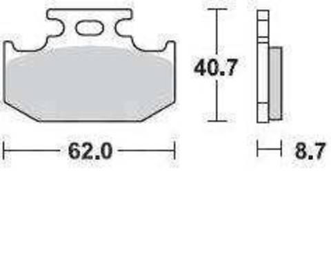 Колодки тормозные LB 722CM44