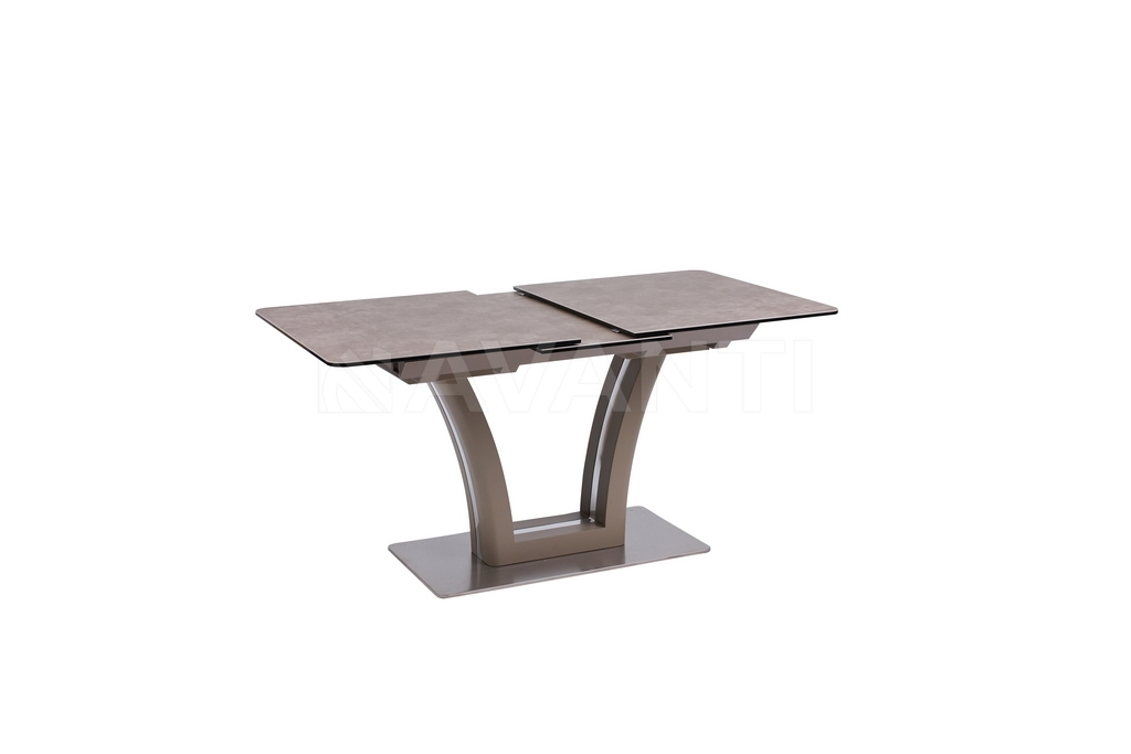 Стол обеденный FUSION (160) MATT MOKKA/LATTE (сатин мокка/латте)