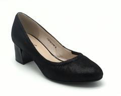 Черные туфли из натуральной кожи