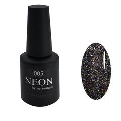 Черный гель-лак с шиммером для дизайна NEON